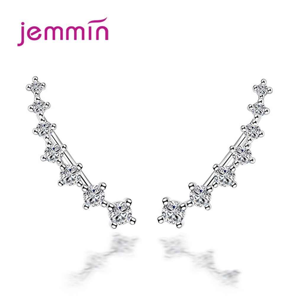 925 kolczyki sztyfty ze srebra wysokiej próby biżuteria do dekoracji Trendy Style CZ cyrkonia kobiety dziewczyny Party zaręczyny