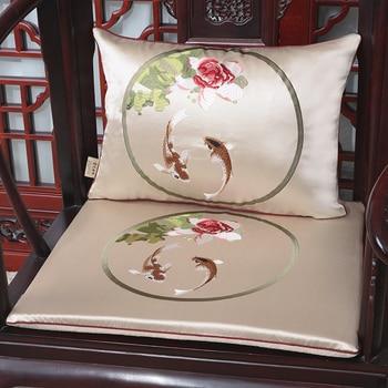 Latest Jacquard Fish Seat Cushion Christmas Decoration Chinese Silk Chair Cushions for Sofa Chair Seat Pad Armchair Cushion Seat