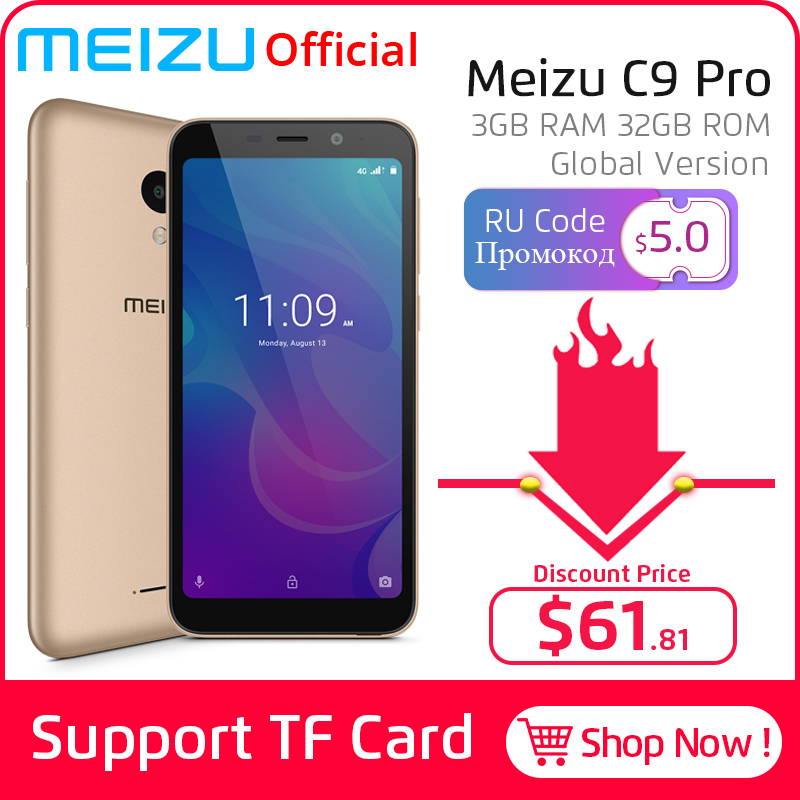 Meizu C9 Pro 3GB GSM/WCDMA/LTE Quad Core Fingerprint Recognition 13MP New Mobile-Phone