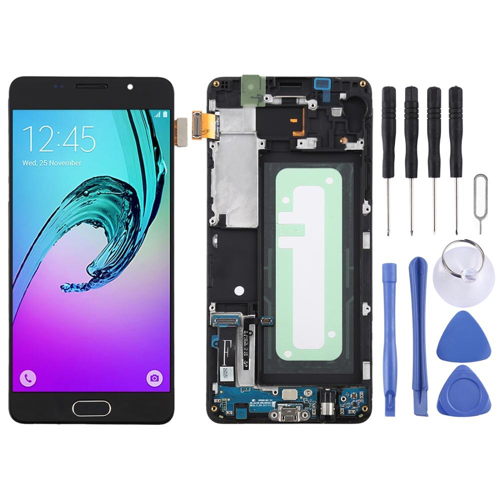TFT Material LCD Screen and Digitizer Full Assembly with Frame for Galaxy A5 (2016) / <font><b>A510F</b></font> image