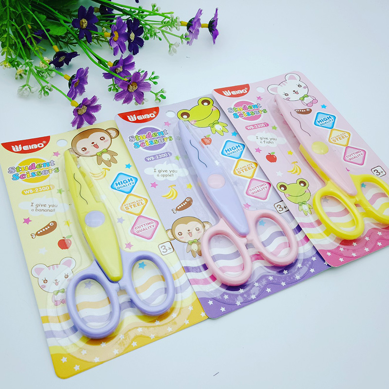 5.5 Inch Flower Edge Students Scissor For School Supplies Children Paper Cutting Scissors Office Stationery