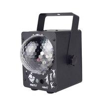 Светодиодный сценический светильник для дискотеки, лазерный светильник RGB для диджея, проектор со звуковой активацией, светильник для танцевальных залов, баров вечерние, Рождества