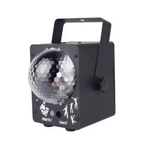 Image 1 - Luz LED de escenario RGB Luz Láser De discoteca, lámpara de bola para discoteca, proyector activado con sonido para salas de baile, bares, Fiestas y Navidad