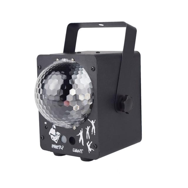 Luz LED de escenario RGB Luz Láser De discoteca, lámpara de bola para discoteca, proyector activado con sonido para salas de baile, bares, Fiestas y Navidad