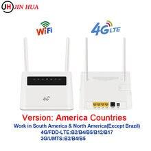 Us wi fi roteador 4g wifi roteador cpe antenas duplas desbloqueado 4g modem roteador wi-fi sem fio sim slot para cartão wan lan rj45 porta