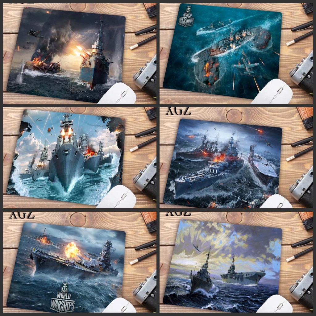 XGZ High Quality World Of Warships DIY Design Pattern Game Mouse Pad Rubber PC Computer Gaming Mousepad Size  22X18CM  Promotion