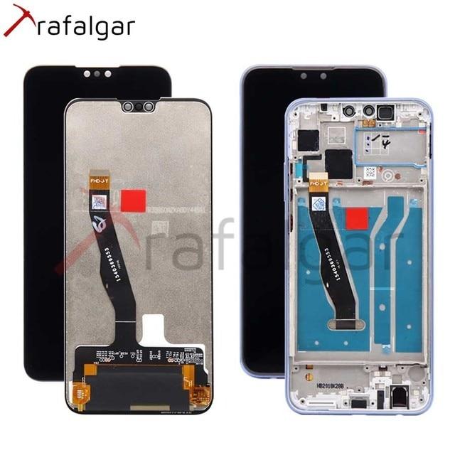 Trafalgar Display Voor Huawei Y9 2019 Lcd Display JKM LX1 LX2 LX3 Digitizer Touch Screen Voor Huawei Y9 2019 Display Met frame