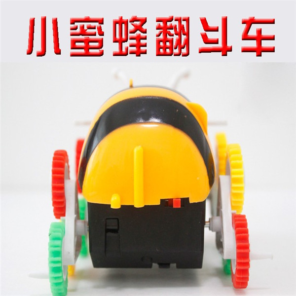 Small Bee Electric Dump Truck Stunt Roll Crawler Automatic Flipping CHILDREN'S Electric Car Stall Toy