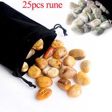 25 sztuk wolność naturalny akwamaryn Rune kryształowe runy kamień wróżbiarstwo kwarcowy wróżbiarstwo medytacja uzdrawianie Reiki prezent wystrój tanie tanio FAIRY FENG SHUI CHINA