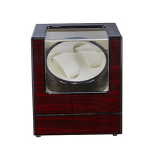 Fashion Automatic Watch Winder Wooden Winding Box Watch Collection Holder Display Ultra-quiet Motor Shaker 2 Watches Winder Box