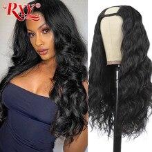 U-Part Wig Human-Hair Body-Wave 180-Density Brazilian Glueless Can-Be-Permed--Dye 10A