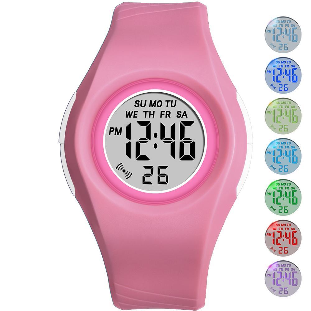 PANARS Дети% 27s Часы Спорт Студент Наручные часы 50M Водонепроницаемый Будильник Часы LED Световой Дети Подарок Девочки Мальчики Часы Relogios