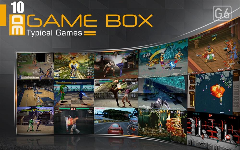 G6 TV boîte de jeu 105 3D & 2218 2D jeux en 1 boîte de jeu vidéo pour cadeau de noël manettes de manette Console de jeu Console de jeu