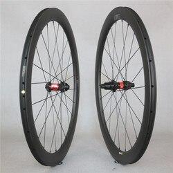 Z włókna węglowego UD droga koła rowerowe 50*25mm tubeless rim XDR korpus kasety z DT240S piasty 12 prędkości w Koła roweru od Sport i rozrywka na
