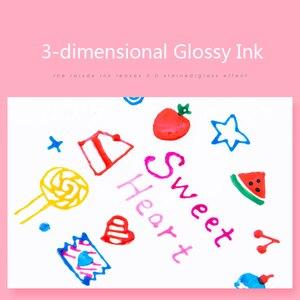 Image 3 - 10 colori Sakura Gelly Roll Smalto Del Gel Penna Set di 3 dimensionale Lucido Penna A Inchiostro Impermeabile Rullo di Penna A Sfera Scuola forniture