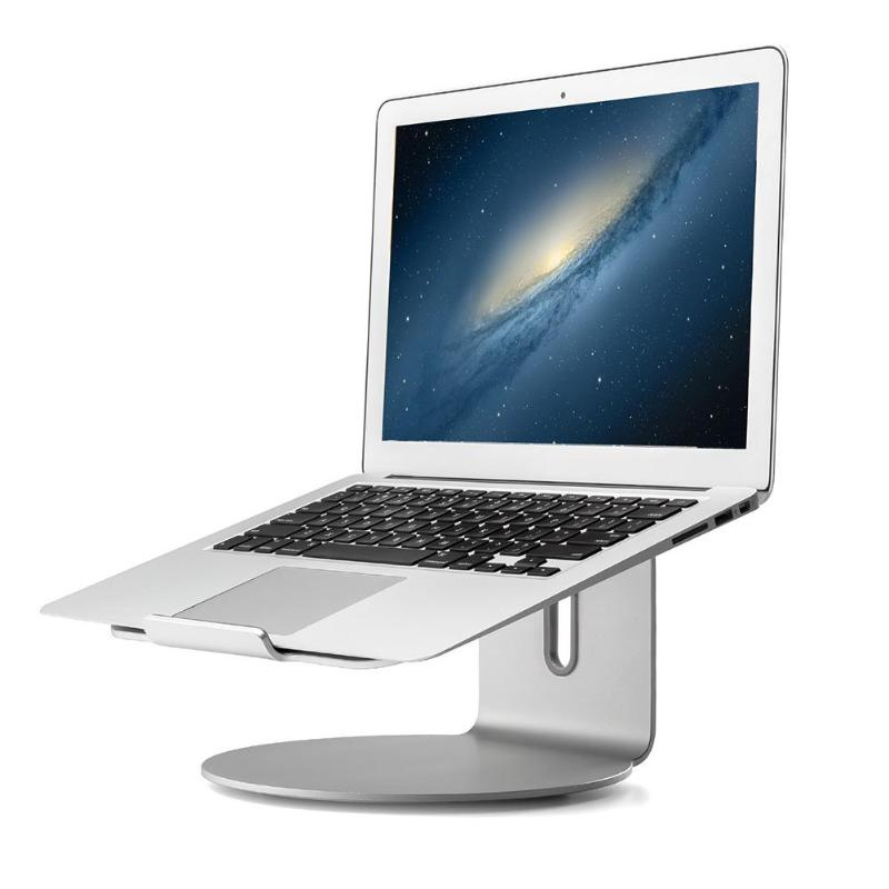 Aluminum Laptop Stand Base 360 Rotation Laptops Heighten Holder Notebook Cooling Holder Support For 10-17 inch MacBook Pro Air