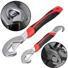2Pcs Multi-funktion Universelle Schnelle Snap'N Grip Einstellbar Wrench Spanner Ratsche Buchse Spanner Schlüssel Magie Multi Hand Werkzeuge