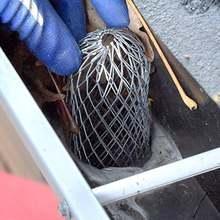 Сетка для защиты водосточных желобов сетка сливного пола из
