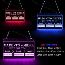 Light-Board Led-Neon-Sign Custom Acrylic Wall-Decor Logo-Shop Color-Changing-Light Remote-Control