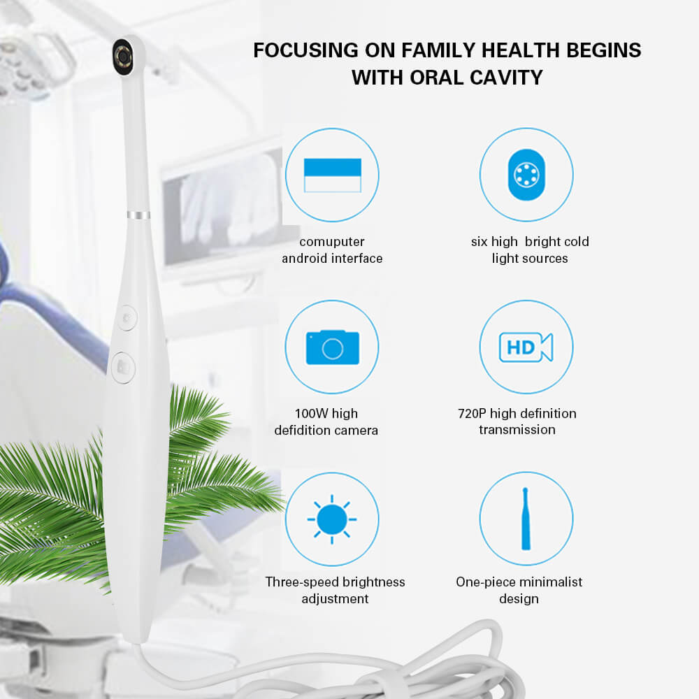 New 3 Modes Dental Intraoral Camera 720P HD Defidition Camera Waterproof Endoscope Teeth Mirror LED Light Monitoring Inspection