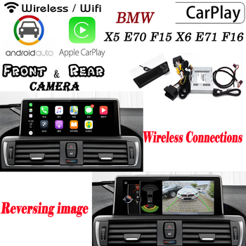 Carplay box For BMW X5 E70 F15 X6 E71 F16 2010~2019 Rear Front camera Decoder Original screen Display adapter Interface carlif image