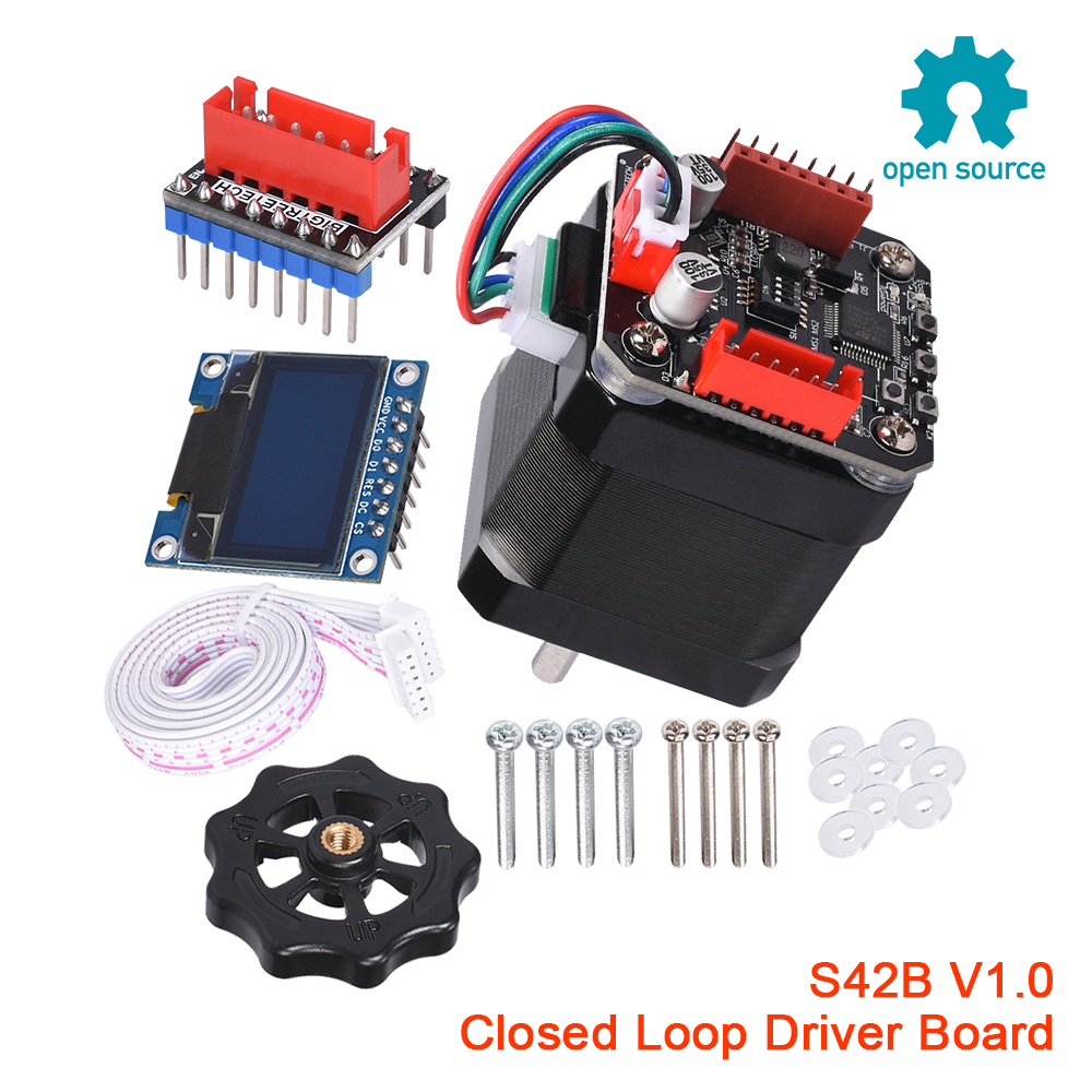 BIGTREETECH S42B V1.0 SERVO42 Closed Loop Driver Control Board 42 Stepper Motor 3D Printer Parts OLED Nema 17 SKR V1.3 V1.4  MKS