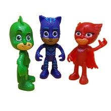 3pcs /set Pj Mask Anime Figure TV 2018 Character Pj Masks Cat boy OwlGirls Gekko