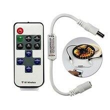 Controlador remoto Led inalámbrico por radiofrecuencia, Control de atenuación para luz de un solo Color SMD 5050/3528/5630/3014 con batería, 11 teclas