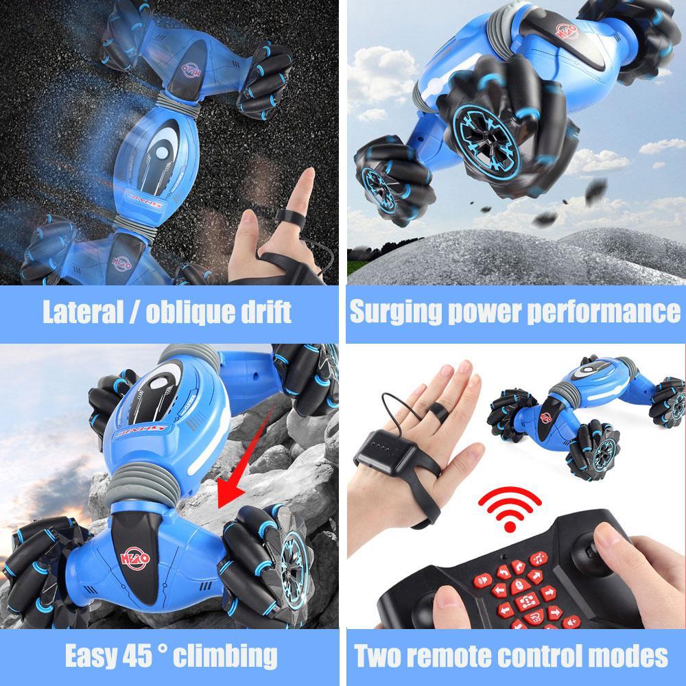 2,4 GHz 4WD RC автомобильный датчик жестов, часы, управление, двухсторонние трюковые автомобили, Внедорожные багги, игрушки, высокая скорость, скалолазание, RC автомобиль, детские игрушки - 5