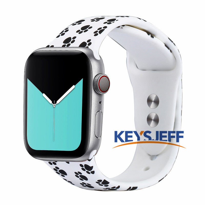 Compatible With Apple Watch Band 38mm 40mm 42mm 44mm Fadeless Pattern Printed Bands For IWatch Bands  Strap Series 5/4/3/2 81023