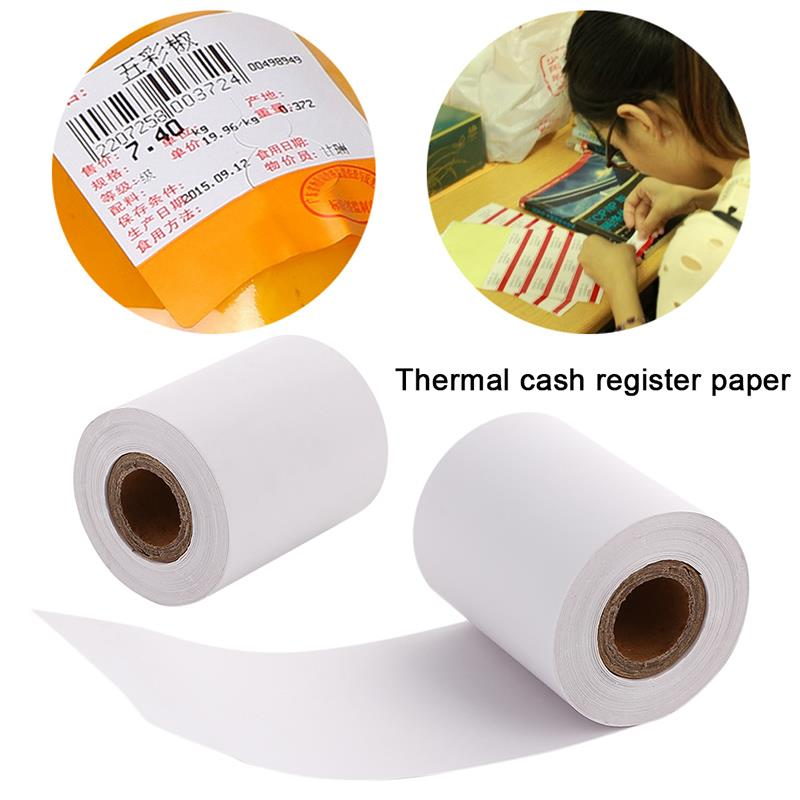 Thermal Paper Cashier Shop Pos Machine Printer Cash Register Single Layer 57*50 Universal Durable Printing Paper