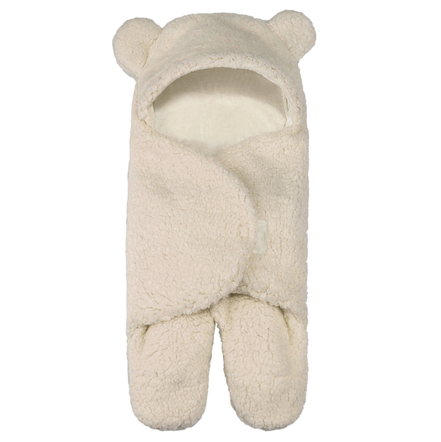 M-Blue Baby Sleeping Bag has an Adjustable Babys Hook /& Loop Suitable for 0-12 Month Baby Soft Cartoon Newborn Sleeping Wrap Newborn Boys Girls Cute Cotton Receiving Blanket