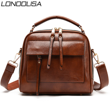 Genuine Leather Luxury Handbags Women Bags Designer Vintage Ladies Double Layer Inner Shoulder Bag Crossbody Bags for Women 2020