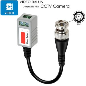 Image 4 - CCTV Camera Passive Video Balun BNC Connector Coaxial Cable Adapter for Security CCTV Analog camera DVR Systems
