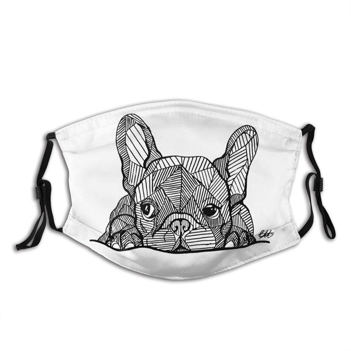 French Bulldog Mouth Face Mask French Bulldog Puppy Facial Mask Cool Fashion With 2 Filters For Adult