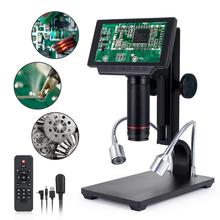 Andonstar digital usb/hdmi/av microscópio adsm302 5 polegadas hd display pcb solda microscópio tht smd smt ferramenta de medição software