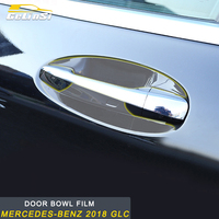Gelinsi For Mercedes Benz 2016 2019 GLC Car Styling Door Bowl Wrist Protective Film Cover Trim Sticker Exterior Accessories