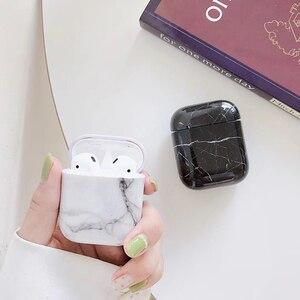 Image 5 - Luxe marmer Hard PC Draadloze Koptelefoon Opladen Cover Tas voor Apple AirPods 1 2 Hoge kwaliteit Glossy Bluetooth Box Headset case