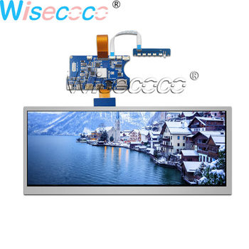 Wisecoco 12.3 inch 1920×720 IPS LCD screen bar display 1000 nits with 50pin LVDS MINI HDMI Type-c touch controller driver board