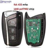 jingyuqin Smart Car Key For Hyundai Santa Fe IX45 2013 2014 3 Button 433mhz ID46 Electronic Chip 7952 Keyless Entry Remte Key|Car Key|Automobiles & Motorcycles -