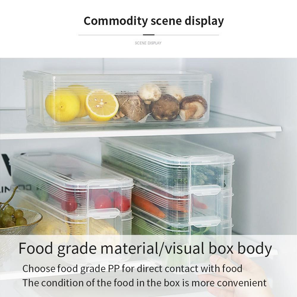 Contenitori Per Organizzare Frigo us $6.09 40% di sconto contenitori per alimenti con coperchio e maniglie  sigillato cibo frutta e verdura mantenere fresca frigorifero organizer