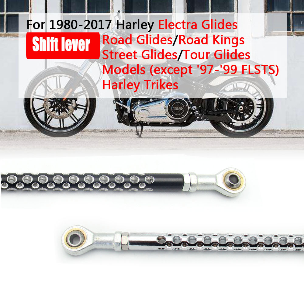 Black Gear Shift Levers Shifter Linkage Link for Harley Electra Road King Street Glide 1980-2017