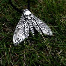 SanLan 12pcs dead head skull moth necklace christmas gift