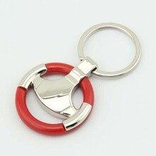 Fashion metal keychain steering wheel car key ring home decoration accessories modern