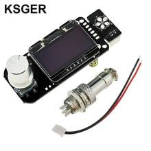KSGER STM32 OLED V2.01 טמפרטורת בקר עבור DIY הלחמה תחנת ערכות T12 ברזל טיפים חשמלי כלים אוטומטי שינה מהיר חום