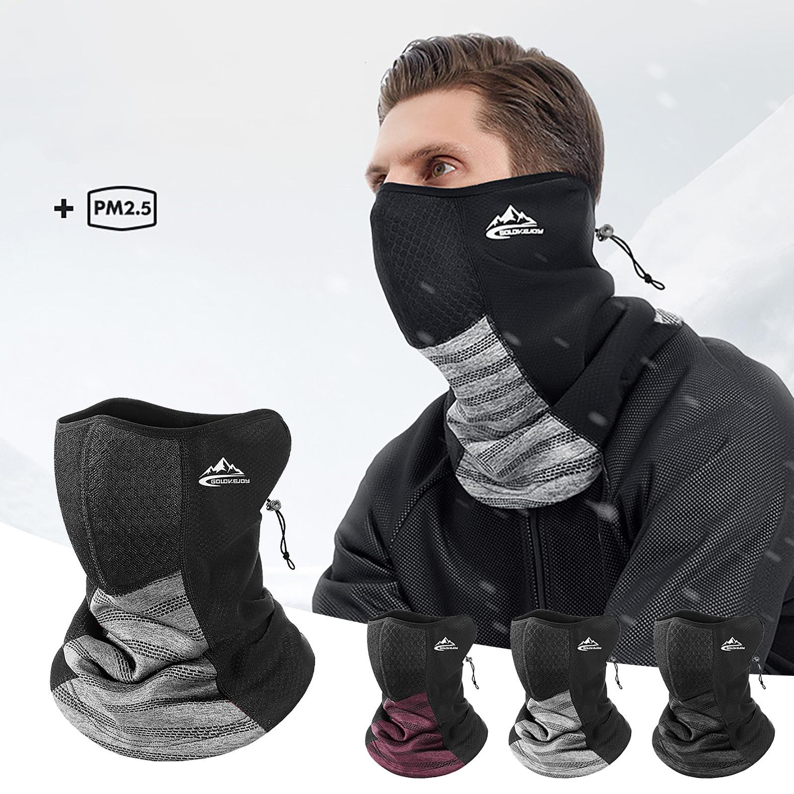 Adulto ciclismo rosto cobrindo máscara de esqui inverno para o tempo frio à prova de vento máscara facial respirável com filtro ao ar livre mascarillas masque|Máscara facial p/ ciclismo|   -