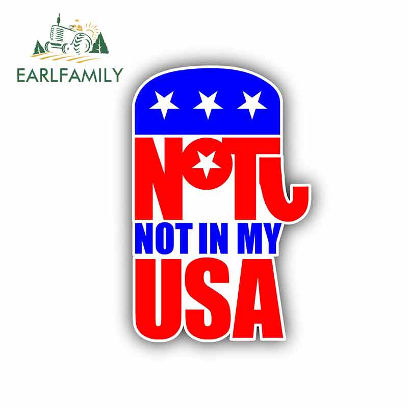 EARLFAMILY 13cm x 8.9cm for <font><b>Democratic</b></font> Party Sign Car <font><b>Stickers</b></font> Vinyl JDM Bumper Trunk Truck Graphics Waterproof Anime Fine Decal image