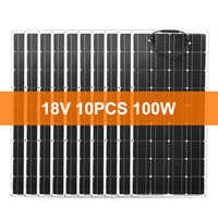 Dokio 18V 1000W Flexible Monocrystalline Solar Panel For Car/Boat/ Home Charge 12V Waterproof Solar Panel China
