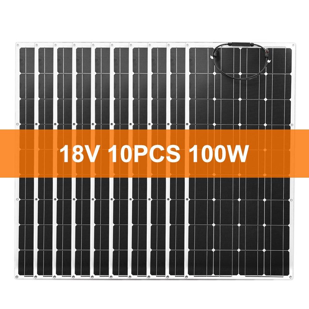 Dokio 18V 1000W Flexible monocristallin panneau solaire pour voiture/bateau/Charge à la maison 12V étanche panneau solaire chine
