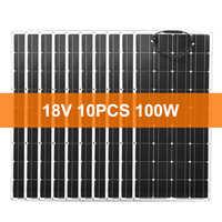 Dokio 18V 1000W Monokristalline Flexible Solar Panel Für Auto/Boot/Hause Ladung 12V Wasserdichte Solar panel China